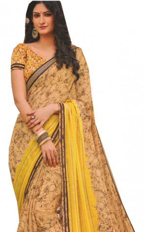 Latest Synthetic Georgette designer saree