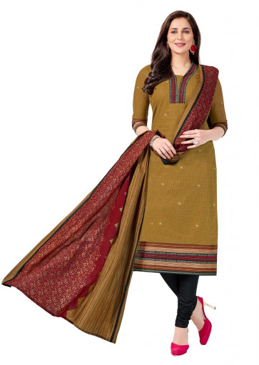 Sudarshan  Family Store  Unstitiched  Salar kameez cotton material-Mustrad-MPS5024-VR-Cotton