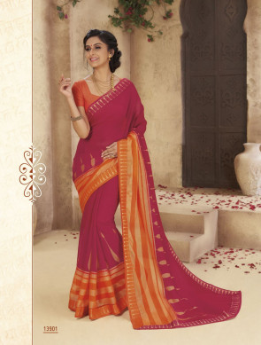 Sudarshan Family Store latest Fancy Vintage plus-2 Multi Design Various printed  Georgette Synthetic Saree
