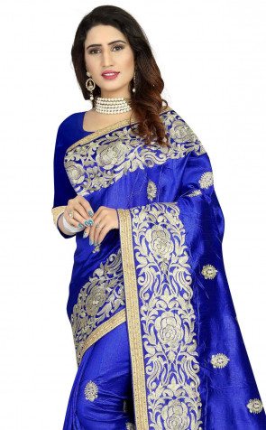 Sudarshan Family Store zoya Art silk Embroidery work Saree with blouse piece saree