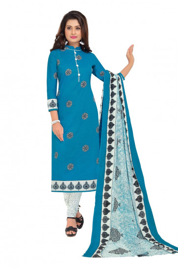 NAI DISHA SALWAR KAMEEZ DRESS MATERIAL-Dark Blue-BAALAR1610-VM-Cotton