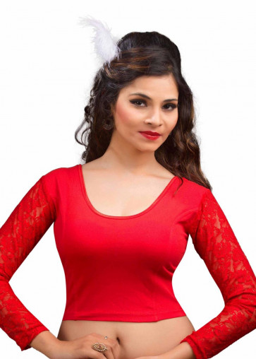 SUDARSHAN LATEST DESIGNER READY MADE BLOUSE-Red-VDBMa16r-VM-N/A