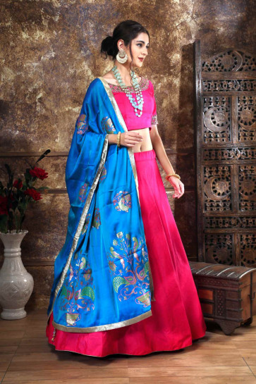 Wedding and Festival collention kesari Vogue-13644 Semi Stitiched Lehenga with Unstitiched choli