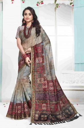 SUDARSHAN NEW  Multi Color Cotton Digital Printed Designer Saree
