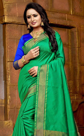 SUDARSHAN LATEST FANCY COTTON SILK WITH WEAVING BORDER