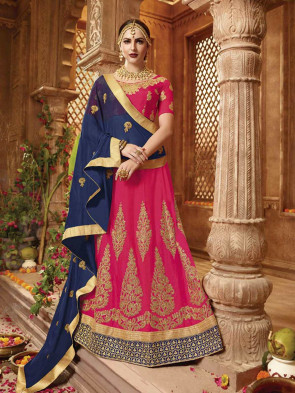 Wedding and Festival collection  Semi Stitiched Lehenga with Unstitiched choli - Silk