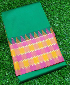 Art silk saree comes with over all body palin with big multi design and multi border