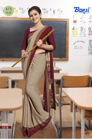Sudarshan Family Store latest Fancy ATS_9 ISA Multi Design Various printed  Synthetic Crape Saree