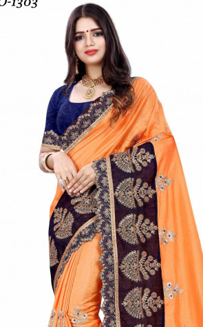 Sudarshan ethnic Fashion catalog Vichitra silk zari work wth embroidery work saree