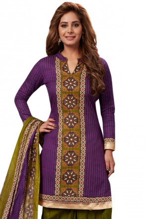 Sudarshan Family Store Ready to wear Cotton Fabric Salwar kameez with printed pant Fany Dupata