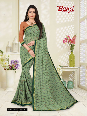 Sudarshan Family Store latest Fancy FAIR LADY-5 Multi Design Various printed  Georgette Saree