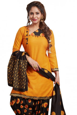 Sudarshan Family Store Ready to wear  Cotton fabic  Salwar kameez with printed pant and dupata