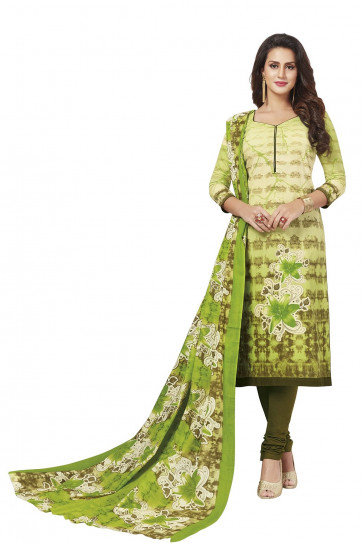Sudarshan Family Store Unstiched Bala Catalog  Salwar kameez  Cotton Material-Green-MPS1830-VR-Cotton