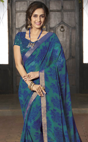 Sudarshan Family Store latest Fancy Temptation Multi Design Various printed  Georgette Synthetic Saree
