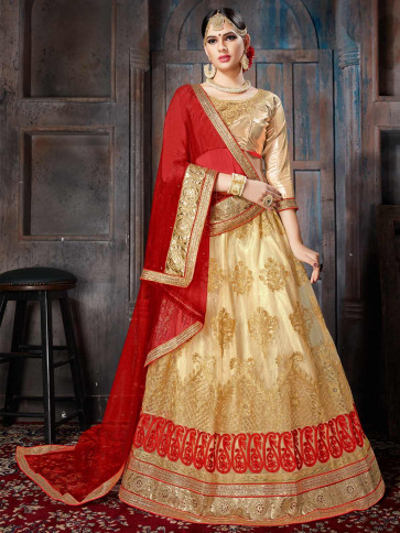 Sudarshan Family Store Wedding and Festival collention  Semi Stitiched Lehenga with Unstitiched choli-Chikko-NMVRNKA803-VN-Net