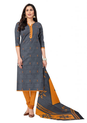 Sudarshan Family Store Stitched Readymade Balar Catalog  cotton Salwar kameez-Grey-MMPS5012-VR-Cotton