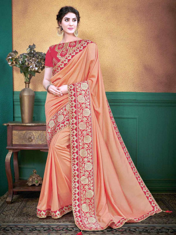 Indian Women Latest Trendy Georgette  saree