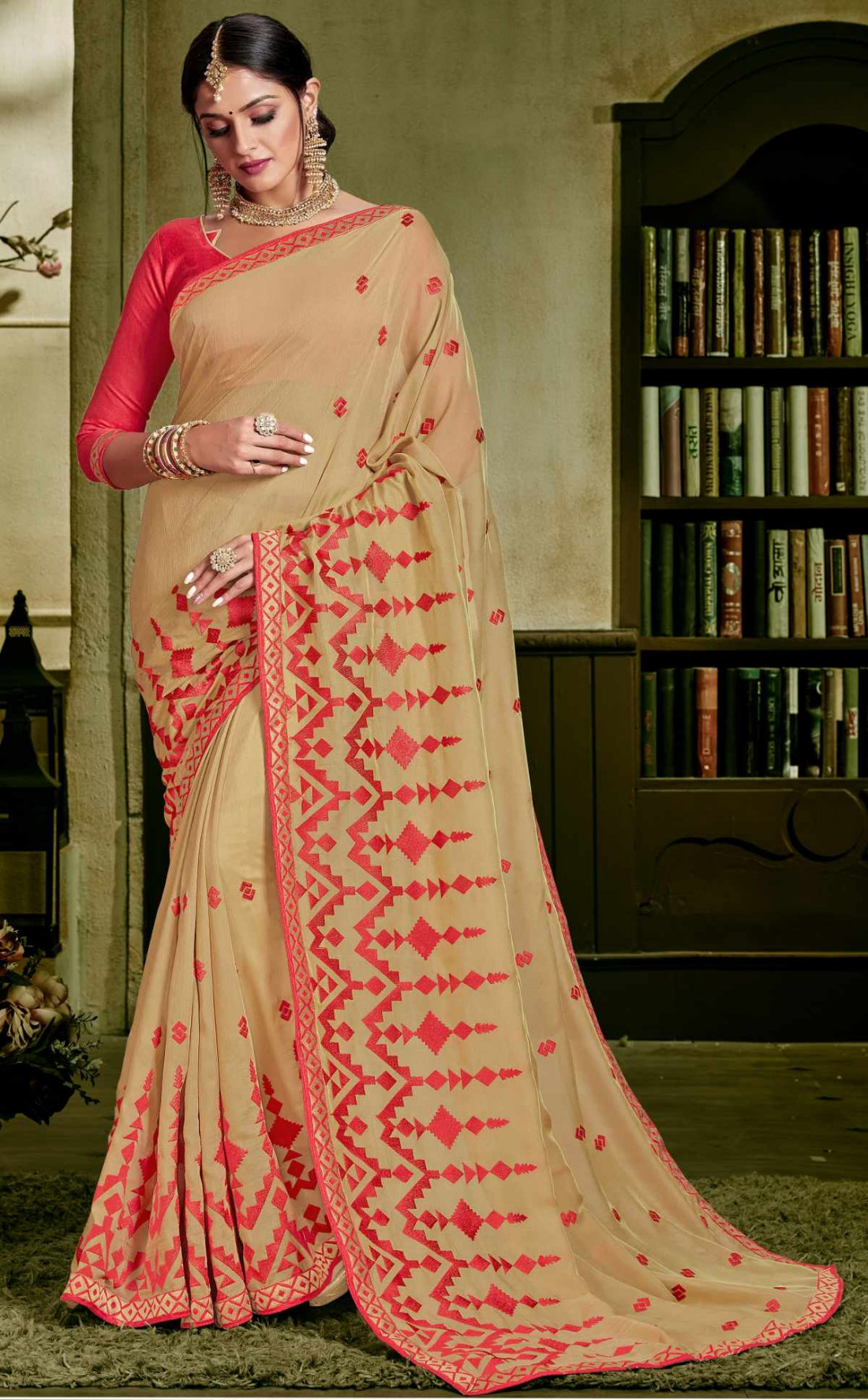 b37a1a3ac2 sudarshan Family Store Rawsilk saree overall body Printed and Embroidery  work with self design Blouse piece