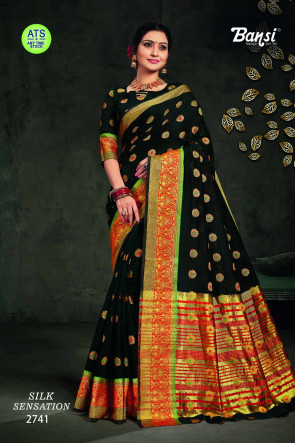 Sudarshan Family Store latest Fancy ATS_19 Multi Design Various printed  SANA SILK  Saree