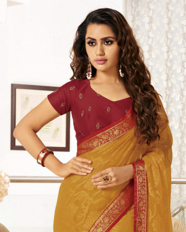 Latest Fancy ( Temptation-26 )  Multi Design Various printed  Georgette Synthetic Saree