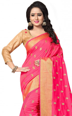 Sudarshan Art Silk Zari Work  with Embroidery work sarees