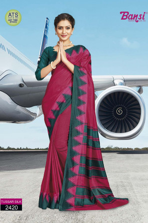 Sudarshan Family Store latest Fancy ATS_13 tussar silk Multi Design Various printed Tussar Silk Saree