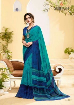 Sudarshan Latest Fancy Home maker Multi Design Various printed  Georgette  Saree