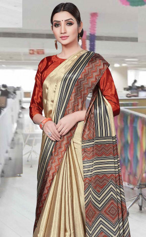 Synthetic Saree Bansi Uniform  naksha collection printed  Fancy multi design  butter quality varies colors design  saree