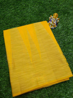 Cotton saree comes with over all body multi design with big temple border and running blouse saree