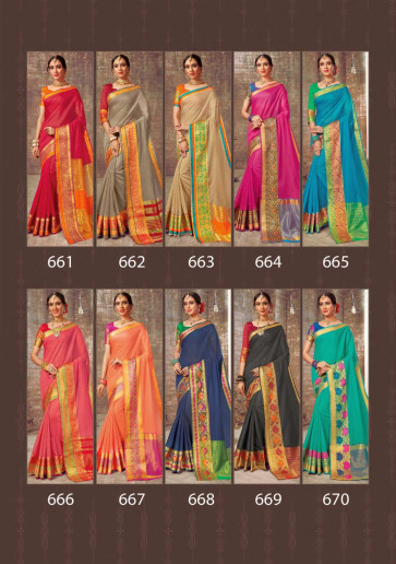 ASHIKA LATEST LOTUS VOL- FANCY COTTON SILK  SAREES